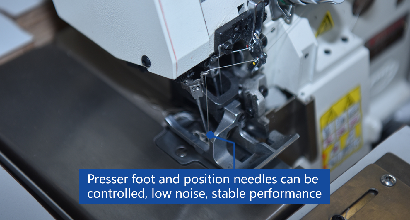Presser foot and position needles can be  controlled, low noise, stable performance